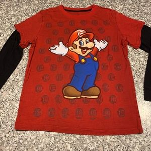 Super Mario Brothers boys tee size 10/12 GUC